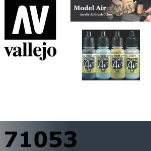 71053 Dark Sea Gray Model Air 17 ml - Vallejo